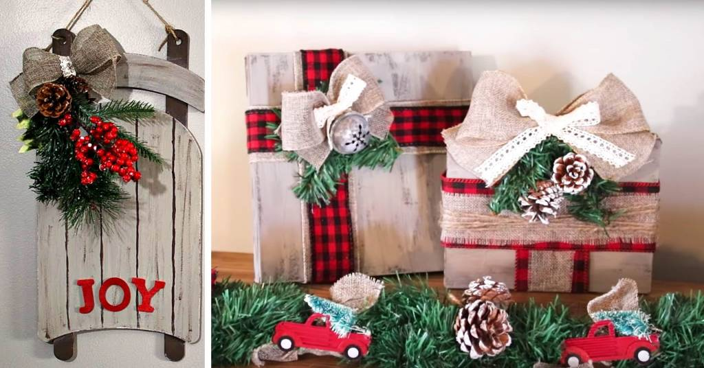 diy dollar tree farmhouse christmas decor ideas for 2018. Black Bedroom Furniture Sets. Home Design Ideas