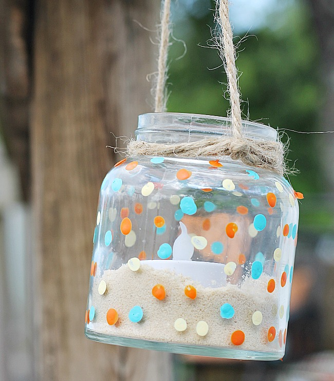 DIY Summer Hanging Jar Lantern