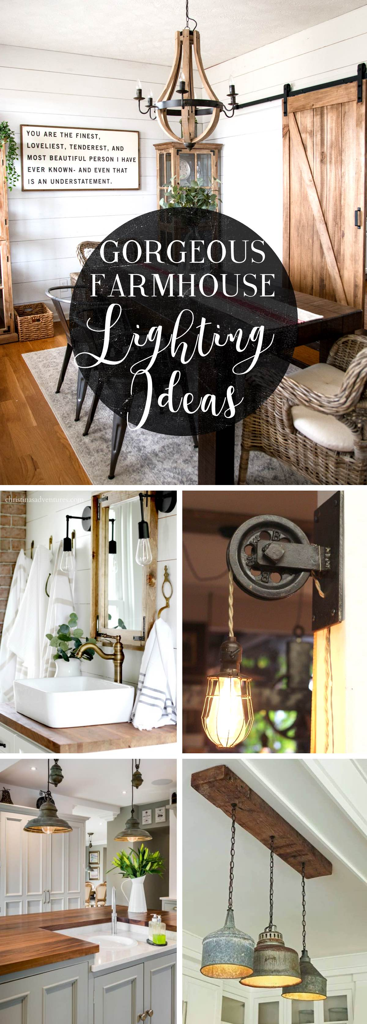 Farmhouse Lighting Ideas