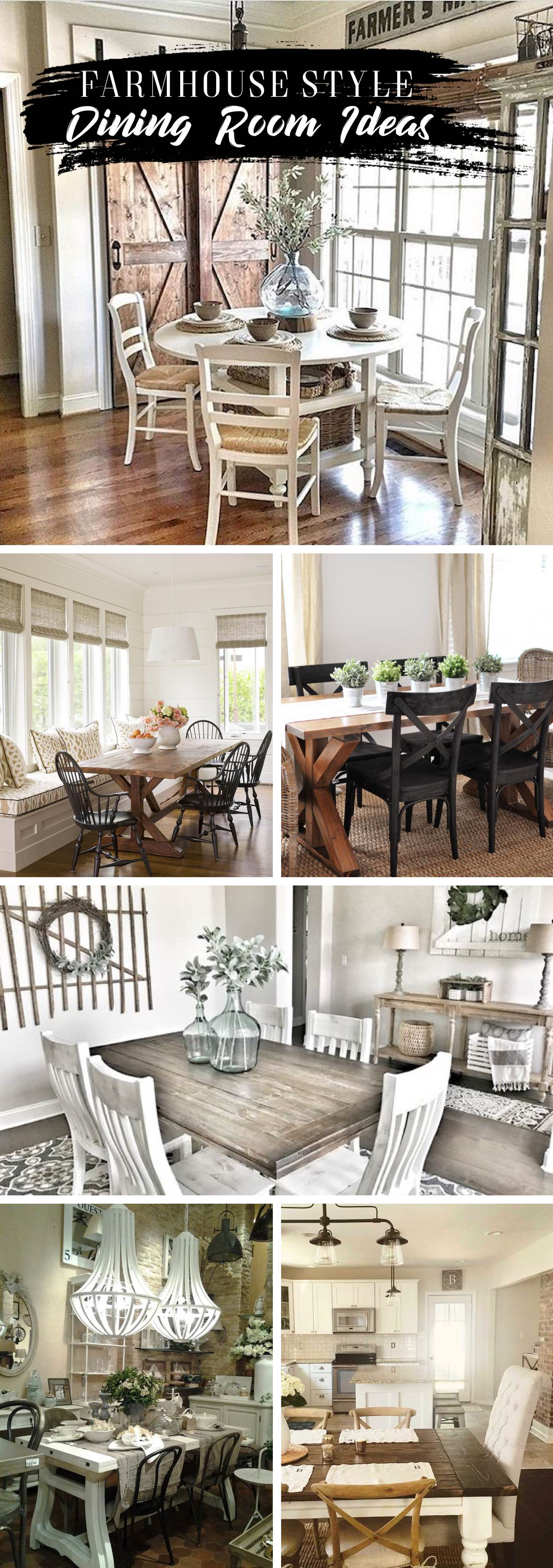 Farmhouse Style Dining Room Ideas You'll Want To Integrate Into Your Home