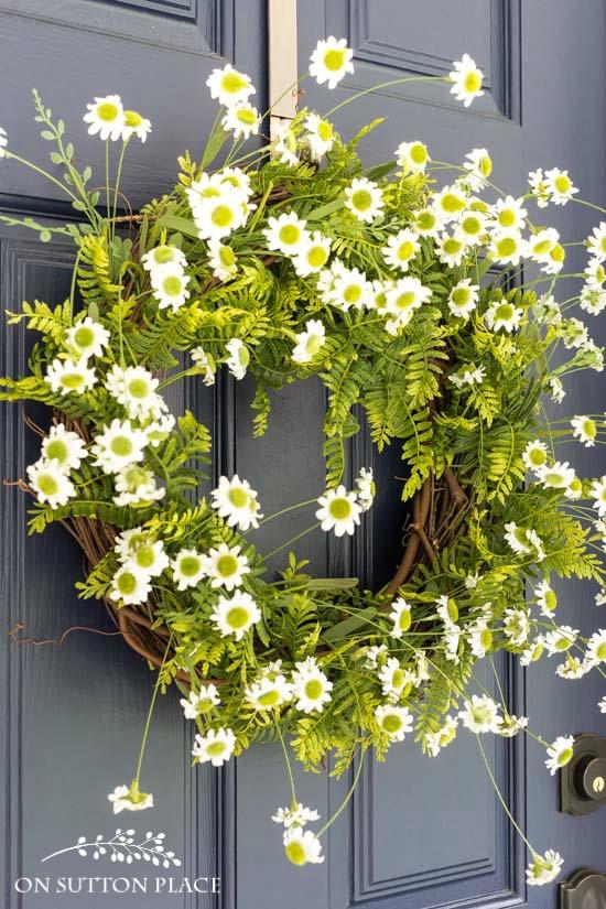 Fern & Daisy Summer Wreath