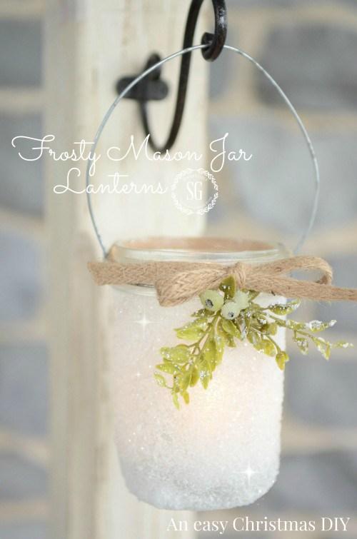 Frosty Mason Jar Lanterns