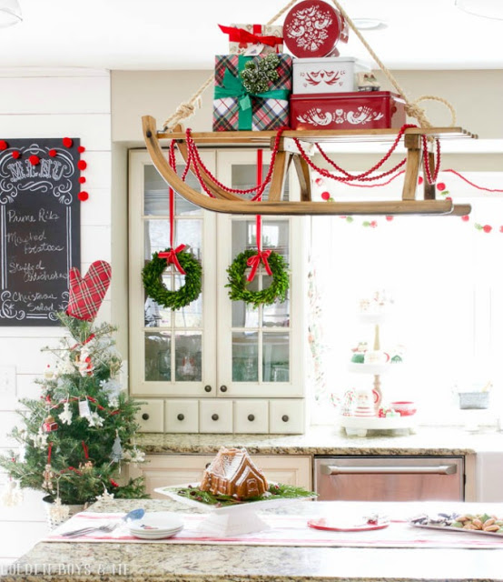 Gift Loaded Hanging Sleigh