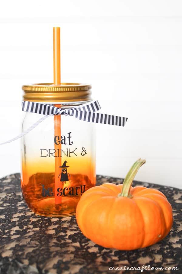 Halloween Mason Jar Drink Glasses