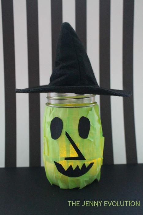 Happy Witch Halloween Mason Jar