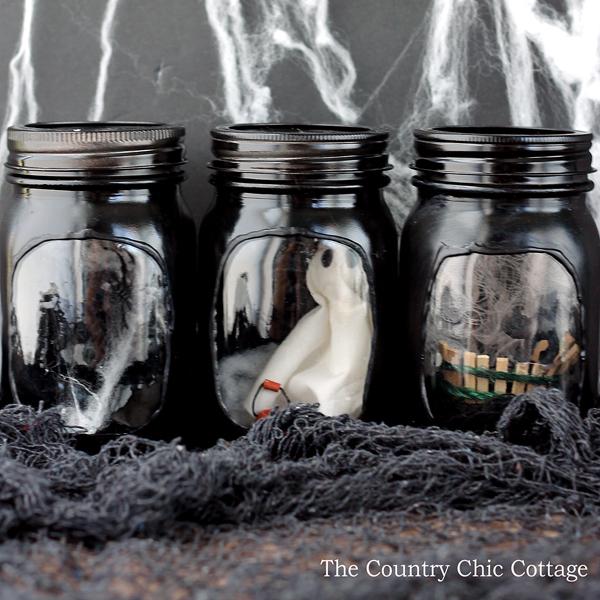 Haunted House Mason Jar