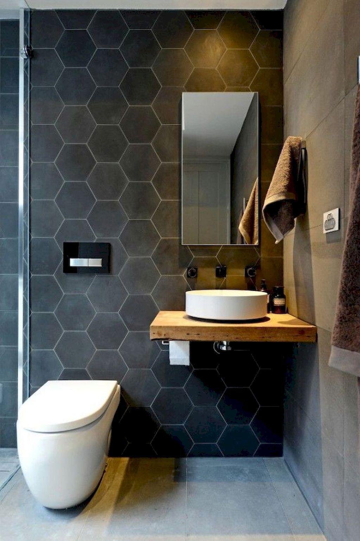 Honeycomb Themed Small Bathroom