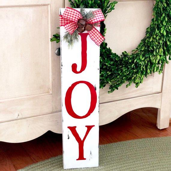 Joy - Rustic Christmas Sign
