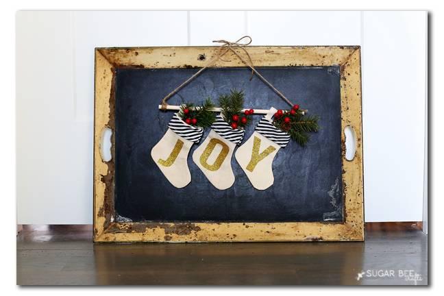 Mini JOY Stockings Banner