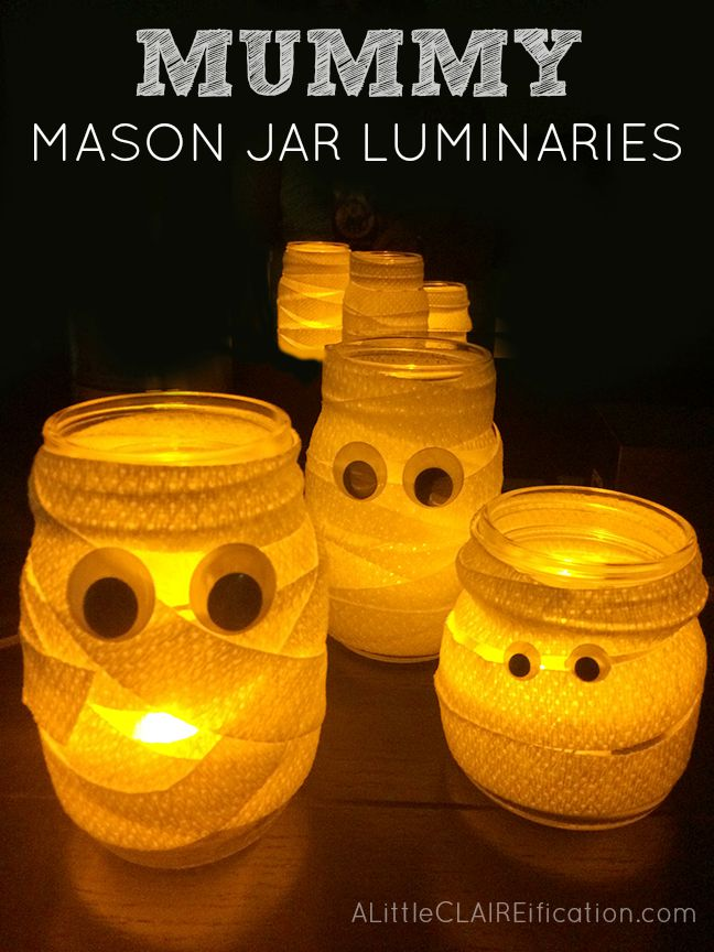 Mummy Mason Jar Luminaries
