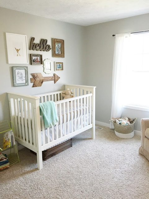 Nursery with Accent Wall