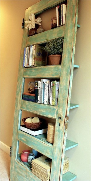 Old Door to Bookshelf