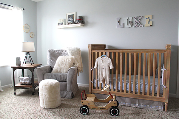 Soothing Nursery with a Touch of Vintage