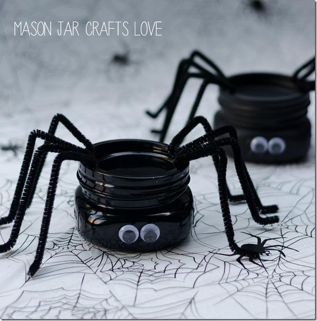 Spider Mason Jars