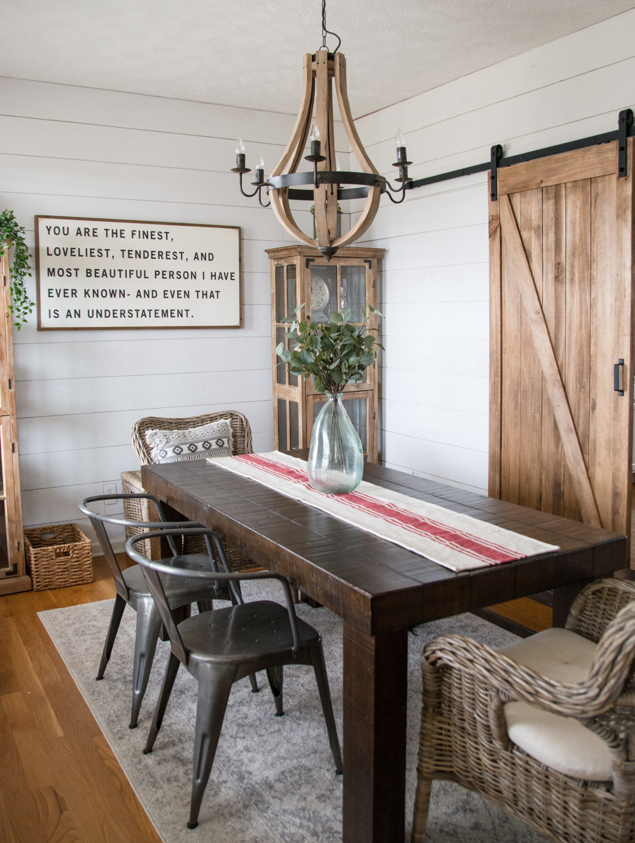 Modern Farmhouse Dining Room Decor Chandeliers