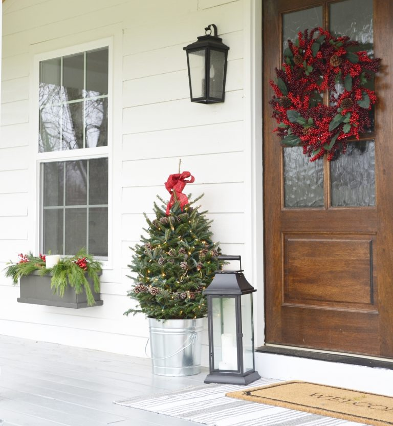 Warm and Cozy Christmas Porch