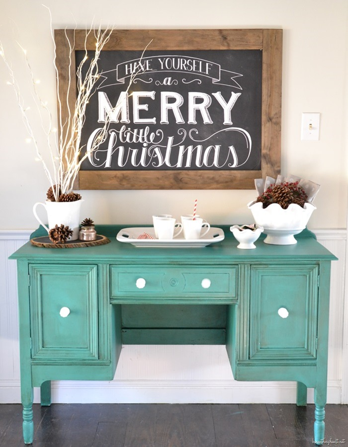 Wooden Chalkboard Tray and Embellishments