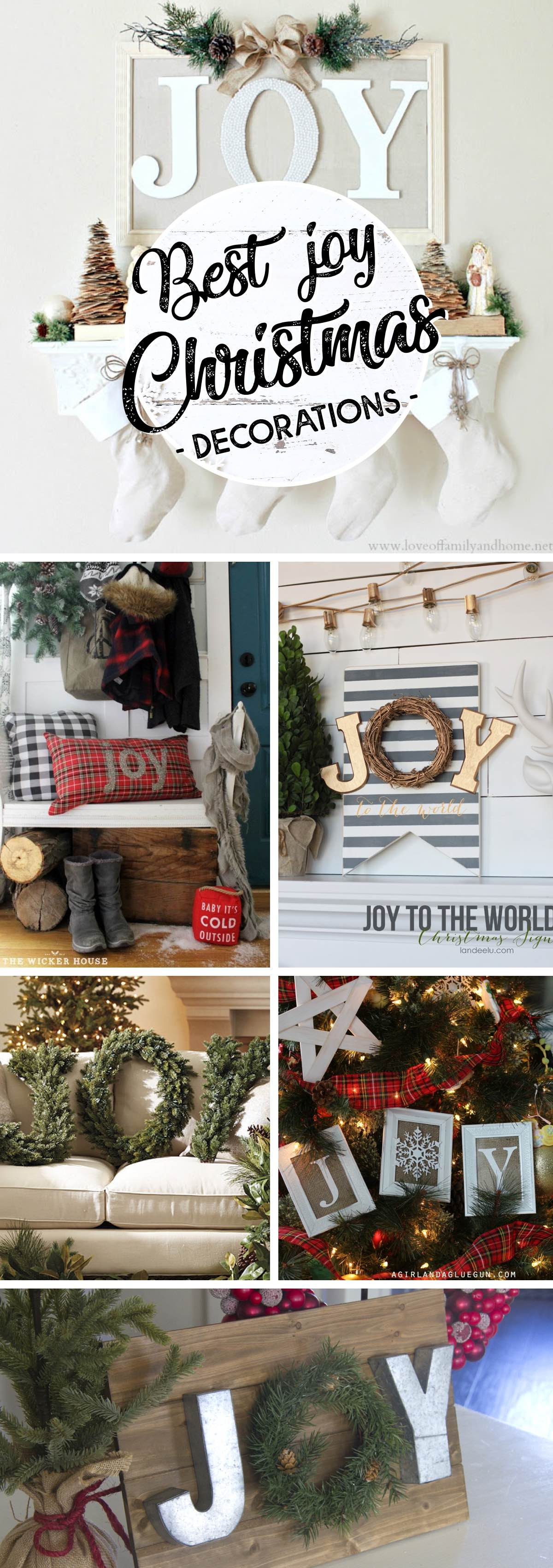 20 JOY Christmas Decorations As Cheerful as the Word They ...