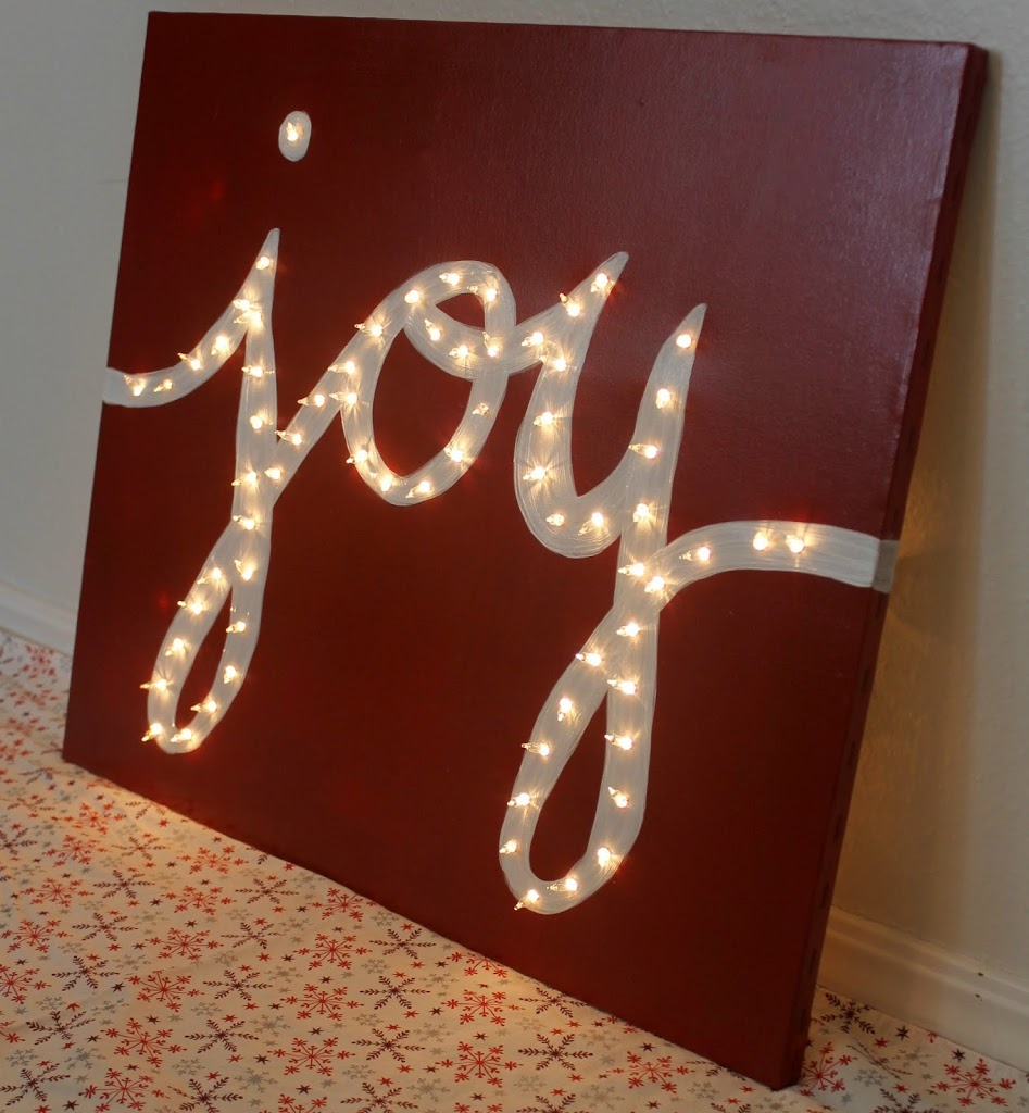 """JOY"" Light Marquis Canvas"