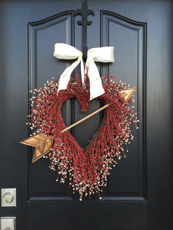 Front Door Valentine's Day Berry Wreath