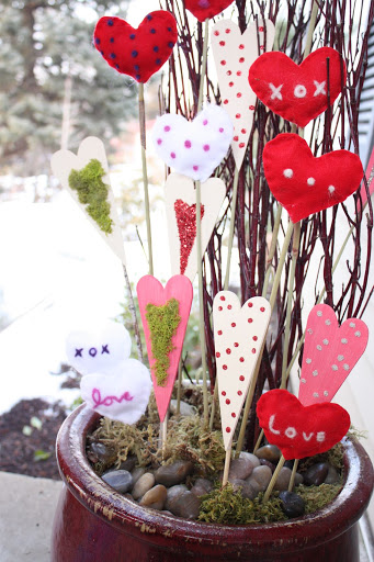 Valentine's Day Heart Sticks- The Red Headed Hostess