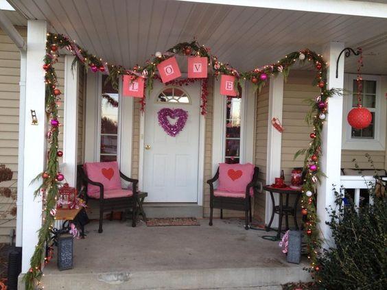 Ornament-Loaded Valentine's Day Decor
