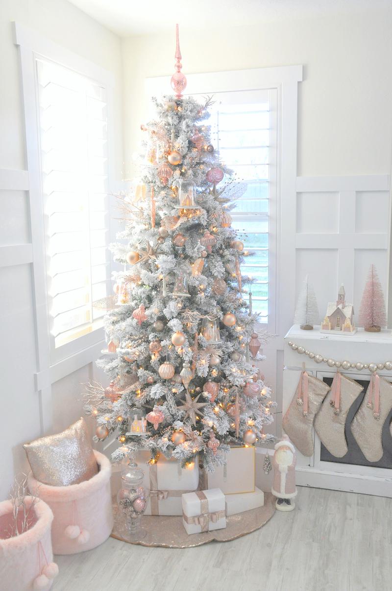 Blush Pink Vintage Christmas Tree