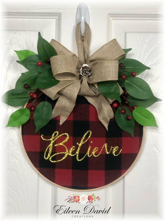 Buffalo Check Bow Wreath