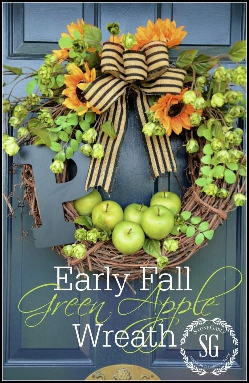 Fall Green Apple Wreath