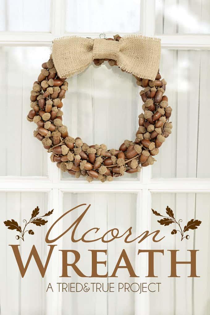 Fall Wreaths With Acorns