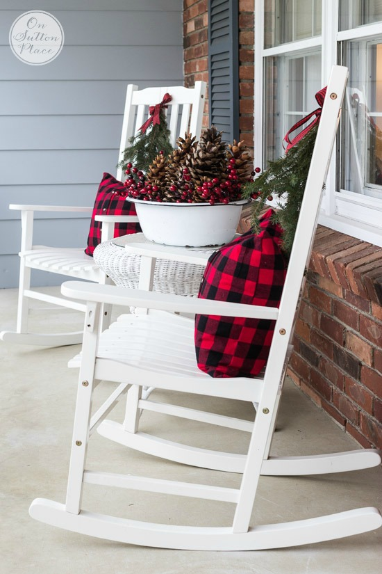 Festive & Frugal Christmas Porch