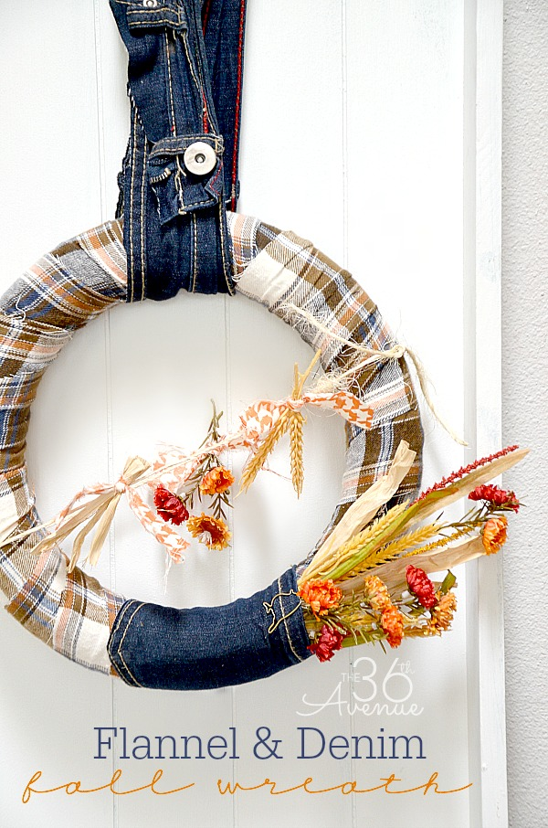 Flannel and Denim Wreath