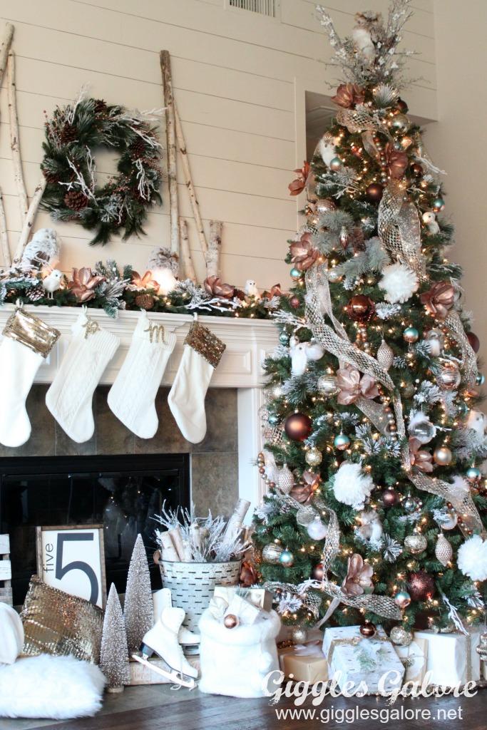Glam Metallic Farmhouse Christmas Tree