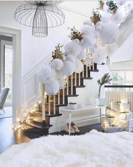 Paper Ornaments and Yarn Balls