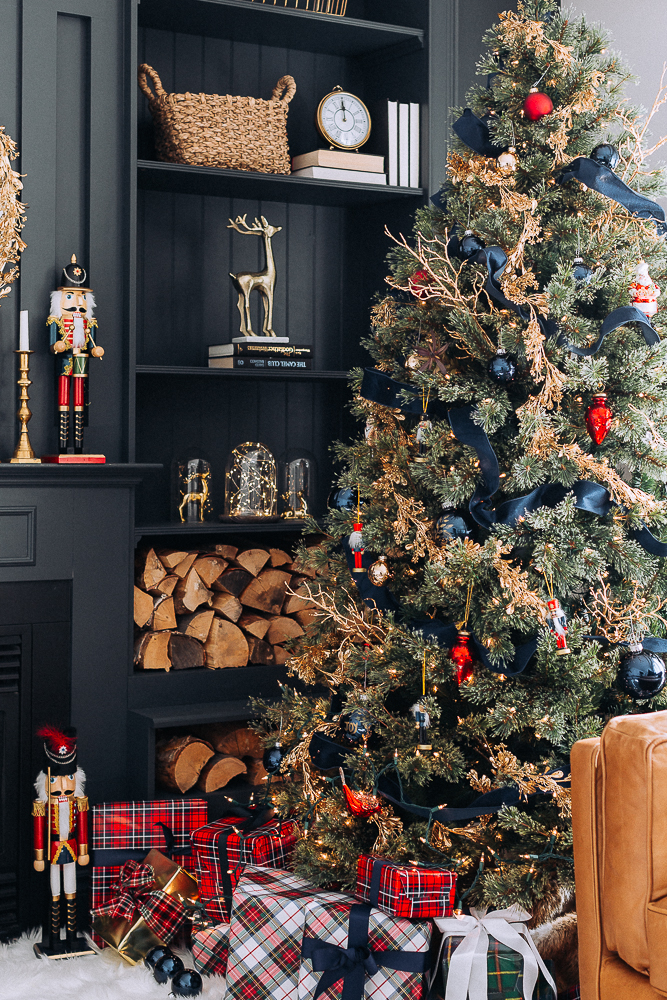 Red, Blue and Gold Christmas Tree