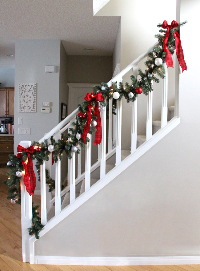 Red Plaids and Evergreen Garlands
