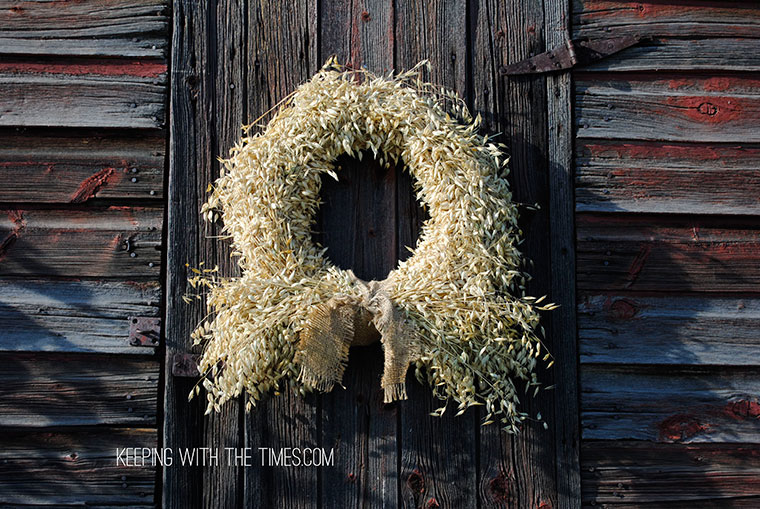 Rustic Country Whole-Grain Wreath