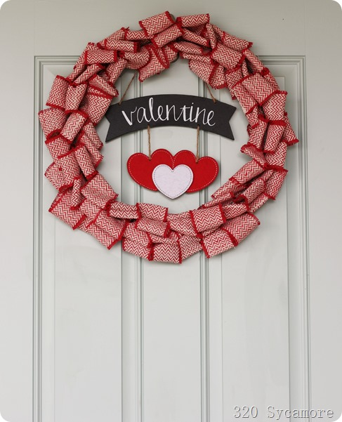 Valentine Wreath and Front Porch