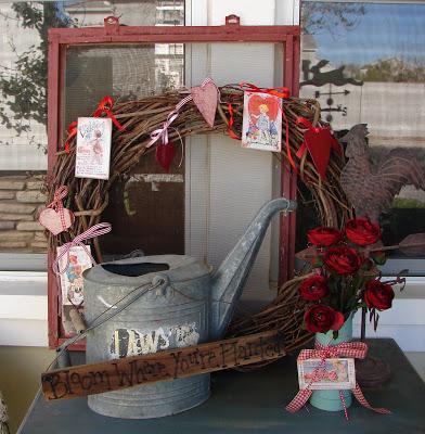 Valentine Wreaths Porch Decor