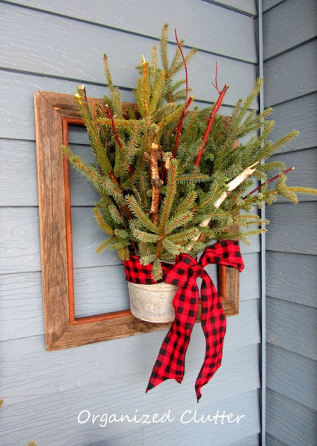 Wall-Mounted Planter with Buffalo Plaid
