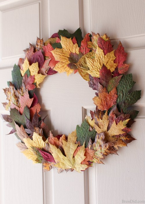 Wreath With Fresh Leaves