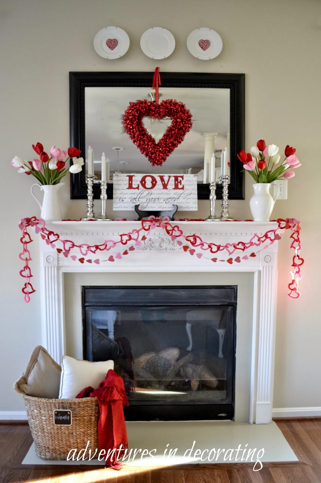 Heart Mantel Decor for Valentine's