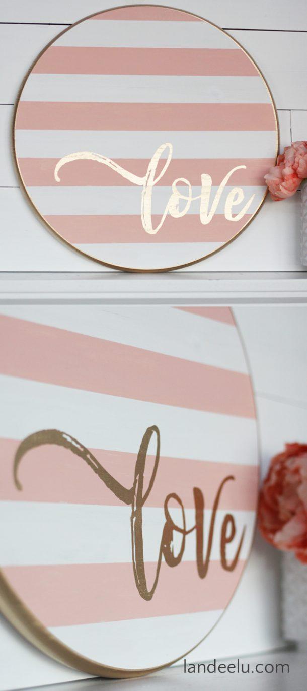 Valentine's Day Craft : Round Love Sign
