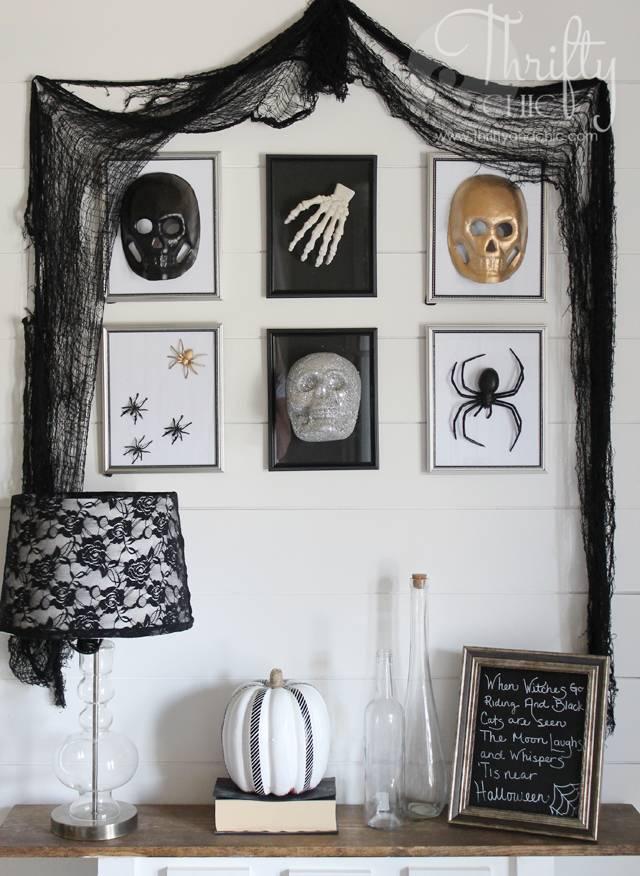 3D Halloween Specimen Gallery Wall