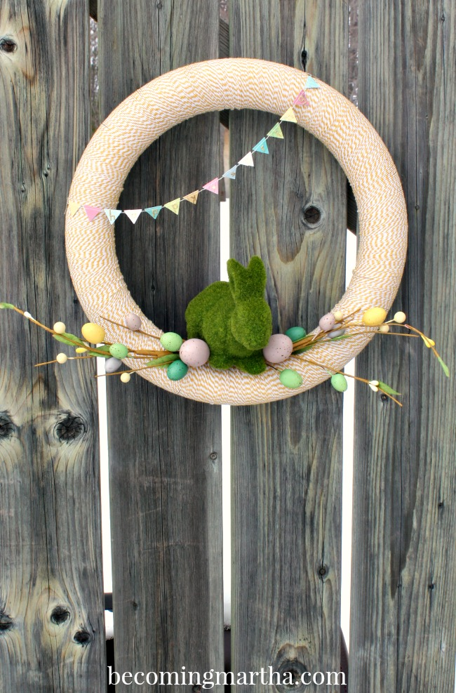 Baker's Twine Easter Wreath