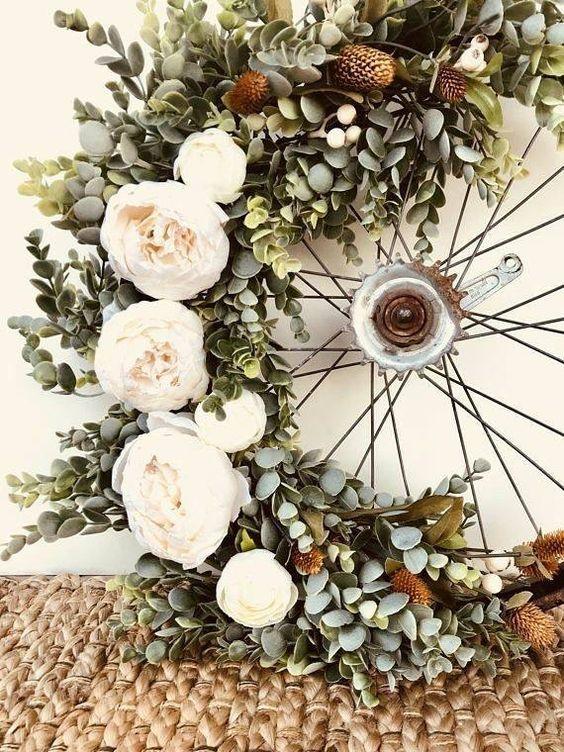 Cycle Wheel to A Gorgeous Wreath