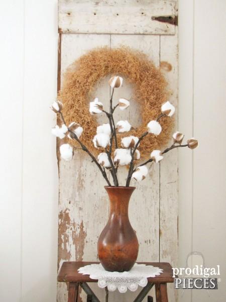 DIY Cotton Branches