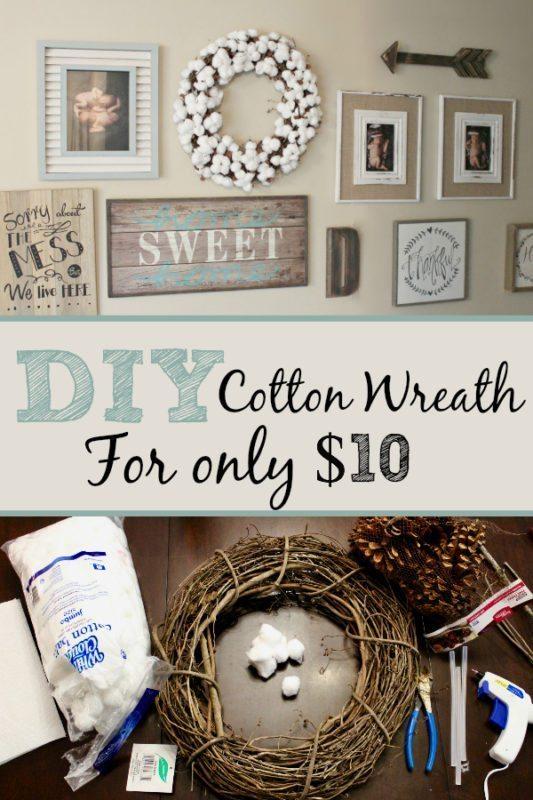 DIY Cotton Wreath