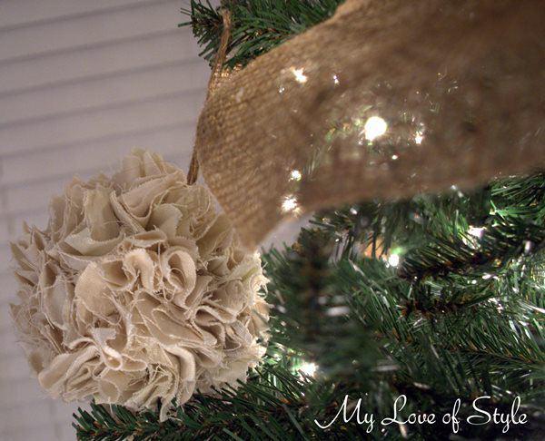 DIY Rustic Pom Ornaments