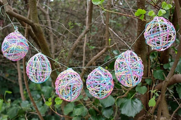 Easter Garland Made With Yarn